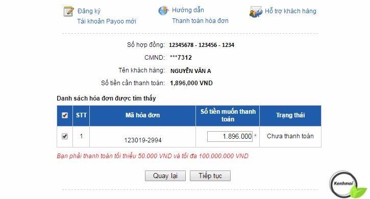 Thanh toán khoản vay FE Credit qua Payoo