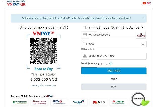Thanh toán khoản vay FE Credit qua VNPay