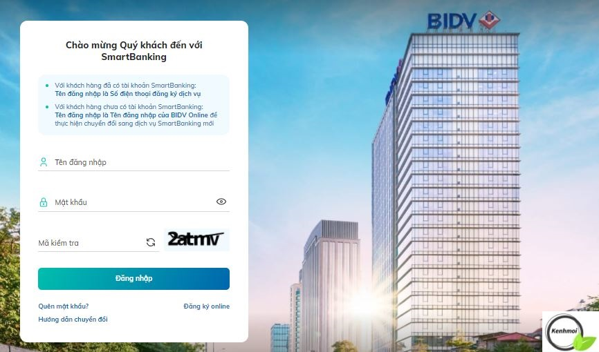 Thanh toán khoản vay FE Credit qua BIDV