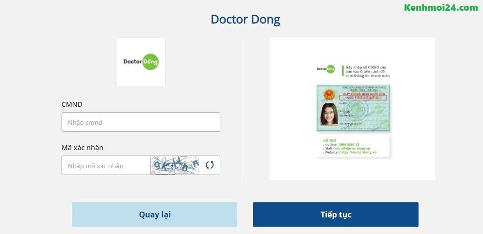 Thanh toán khoản vay Doctor đồng qua Payoo