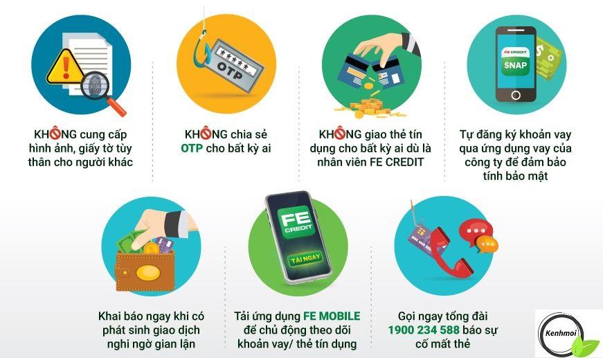 Lưu ý khi sử dụng các sản phẩm dịch vụ Fe Credit