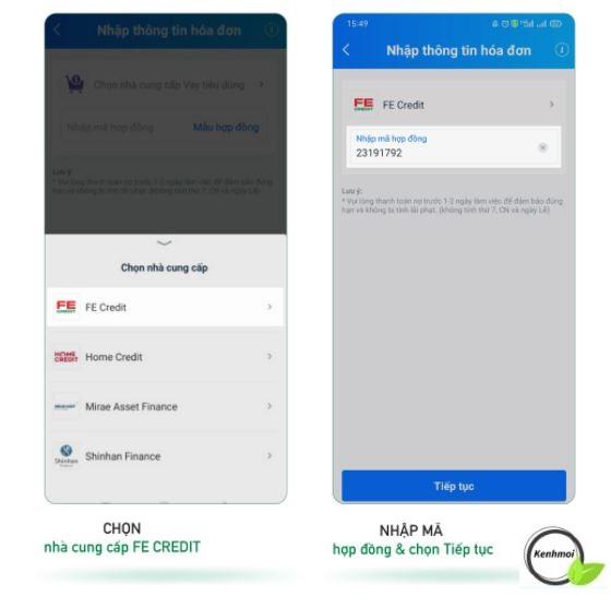 Thanh toán, thanh lý khoản vay FE Credit qua ZaloPay